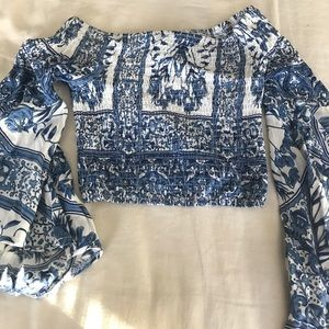 Never worn crop top and off the shoulder LF top!